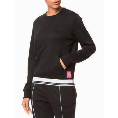 Moletom Feminino CK One Sock Preto Loungewear Calvin Klein