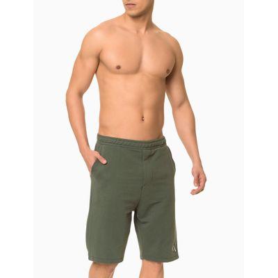 Bermuda Moletom Masculina CK One Verde Militar Loungewear Calvin Klein