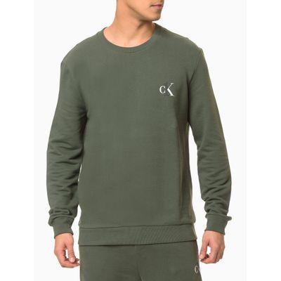 Moletom Masculino CK One Verde Militar Loungewear Calvin Klein