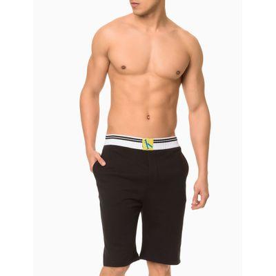Bermuda Moletom Masculina CK One Sock Preta Loungewear Calvin Klein