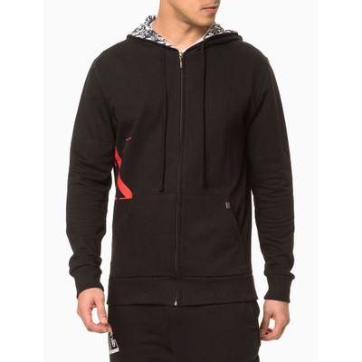 Moletom Masculino com Capuz CK One Preto Loungewear Calvin Klein