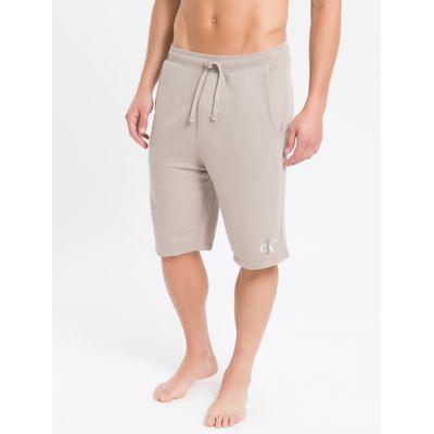 Bermuda Moletom Masculina CK One Cáqui Loungewear Calvin Klein