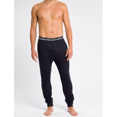 Calça Masculina CK One Barcode Preta Loungewear Calvin Klein