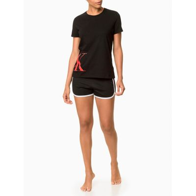 Short Feminino CK One Sock Preto Loungewear Calvin Klein