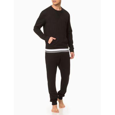 Moletom Masculino CK One Sock Preto Loungewear Calvin Klein