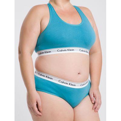 Top Nadador Modern Cotton Plus Size - Azul Turquesa