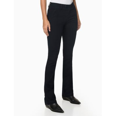 Calça Jeans Slim Flare - Marinho
