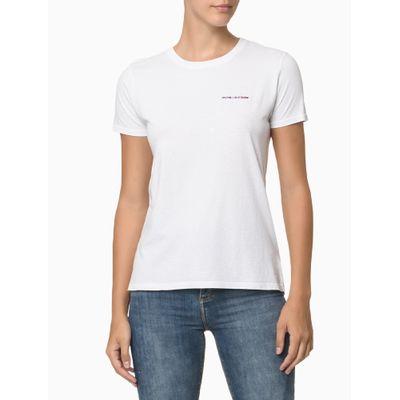 Blusa Mc Slim Logo Meia Reat Gc Namorado - Branco