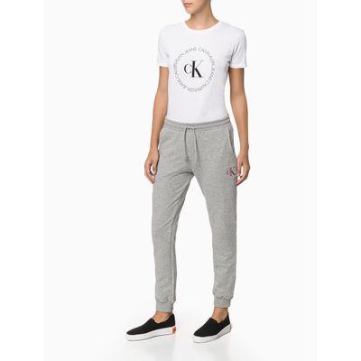 Calça Fem Piquetom Ck One Loungewear - Cinza Mescla