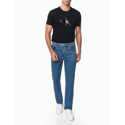 Calça Jeans Six Pckts Bordado Ck1 - Azul Marinho