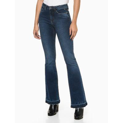 Calça Jeans Five Pockets Flare - Azul Médio