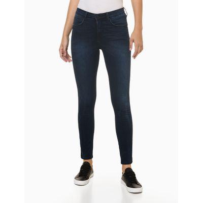 Calça Jeans Five Pockets High Rise Body - Azul Marinho