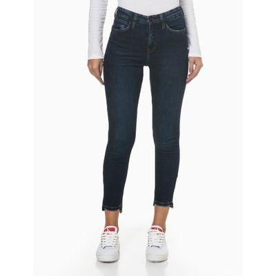 Calça Jeans Five Pockets High R B Skinny - Azul Marinho