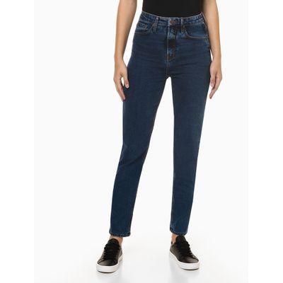 Calça Jeans Feminina Mom Sustentável Azul Médio Calvin Klein Jeans