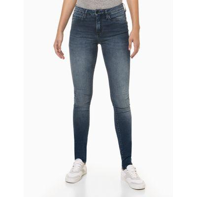 Calça Jeans Feminina Super Skinny Premium Azul Marinho Calvin Klein Jeans