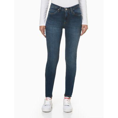 Calça Jeans Feminina Super Skinny Pesponto Triplo Azul Marinho Calvin Klein Jeans