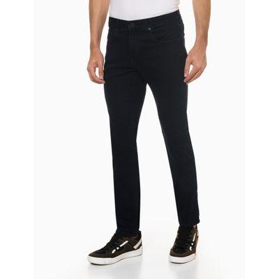 Calça Jeans Masculina Five Pockets Skinny com Stretch Cintura Baixa Azul Marinho Calvin Klein