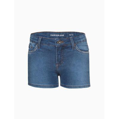 Shorts Jeans Five Pockets - Azul Médio
