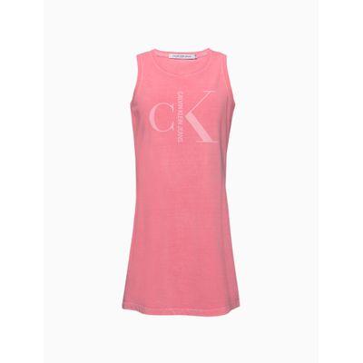 Vestido Malha Sm Curto Meia Est Gc Logo - Rosa