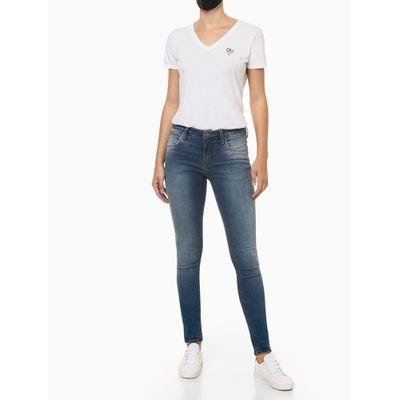Calça Jeans Feminina Skinny Cintura Média Azul Médio Calvin Klein Jeans