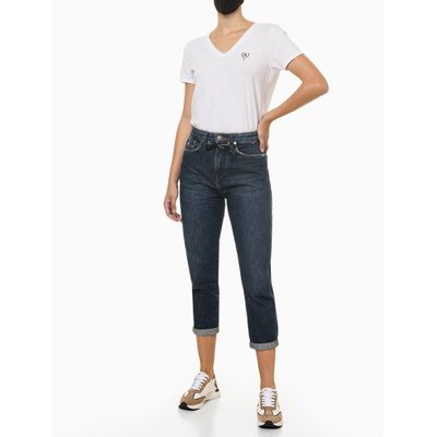 Calça Jeans Cadarço Global - Azul Médio