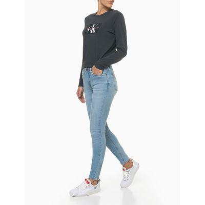 Calça Jeans Feminina Super Skinny Pesponto Triplo Azul Claro Calvin Klein Jeans