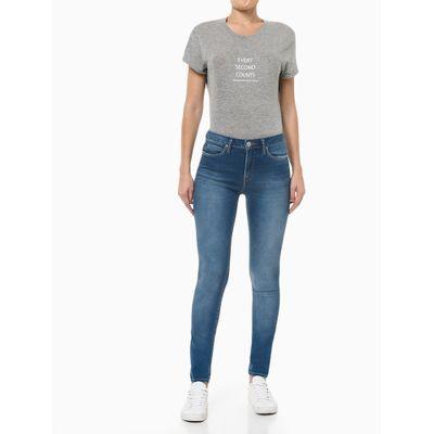 Calça Jeans Feminina Five Pockets Super Skinny Bolso Ômega Azul Claro Calvin Klein Jeans