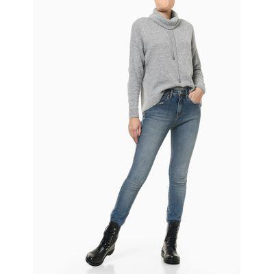 Calça Jeans Five Pckets High Rise Skinny - Azul Claro