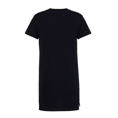 Vestido Malha Mc Com Logo Established - Preto