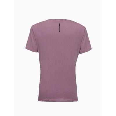 Camiseta Masculina Infantil Básica Roxa Calvin Klein Jeans