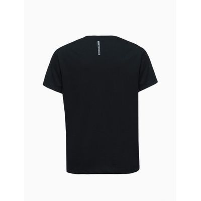 Camiseta Masculina Infantil Logo Central Grande Preta Calvin Klein Jeans