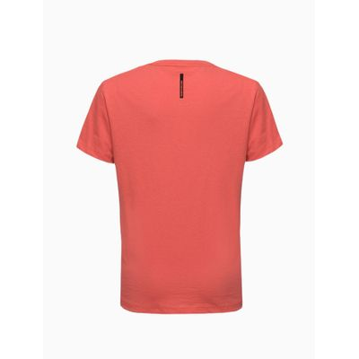 Camiseta Masculina Infantil Logo Central Grande Vermelha Calvin Klein Jeans