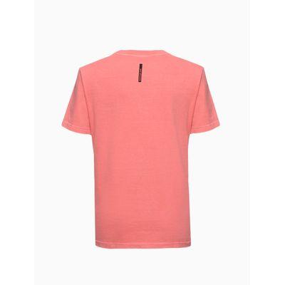 Camiseta Masculina Infantil Estampa If Not Now Laranja Calvin Klein Jeans