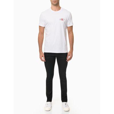 Camiseta Masculina Logo no Peito Branca Calvin Klein Jeans