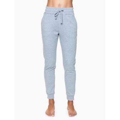 Calça Feminina Moletom Cinza Mescla Loungewear Calvin Klein