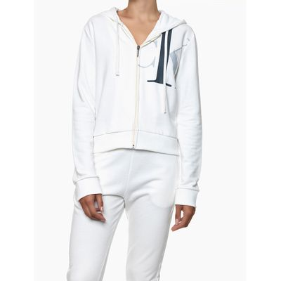 Casaco Feminino com Zíper e Capuz Nude Loungewear Calvin Klein