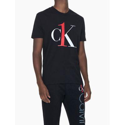Camiseta Masculina Graphic Logo Preta Loungewear Calvin Klein