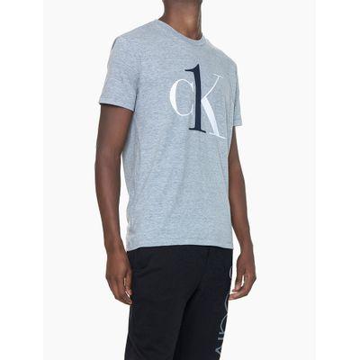 Camiseta Masculina Graphic Logo Cinza Mescla Loungewear Calvin Klein