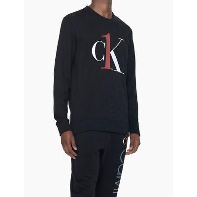 Moletom Masculino Graphic Logo Preto Loungewear Calvin Klein