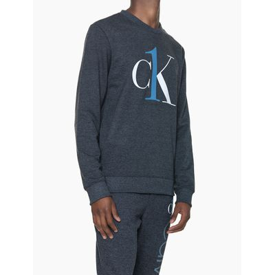 Moletom Masculino Graphic Logo Chumbo Loungewear Calvin Klein