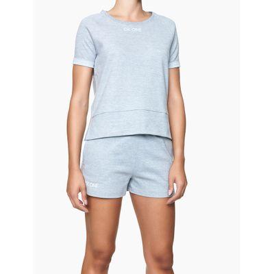 Blusa Feminina CK One Cinza Mescla Loungewear Calvin Klein