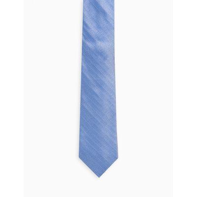 Gravata Textura Grafica - Azul Médio