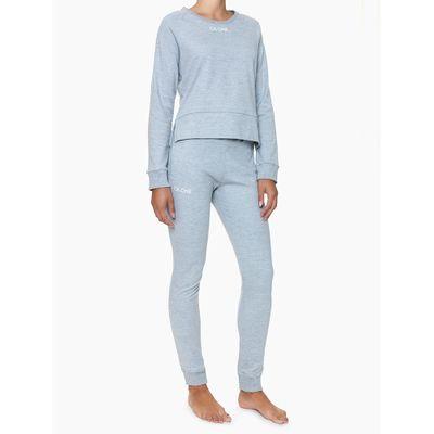 Casaco Feminino CK One Cinza Mescla Loungewear Calvin Klein