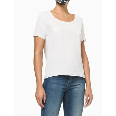 T-Shirt Confort Calvin Klein Gola U - Nude