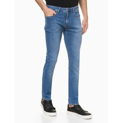 Calça Jeans Masculina Super Skinny Azul Médio Calvin Klein