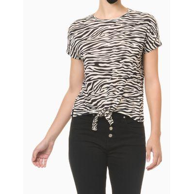 Blusa Feminina Estampa Zebra Nude Calvin Klein