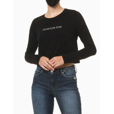 Camiseta Ml Ckj Fem Mlogo Centralizado - Preto