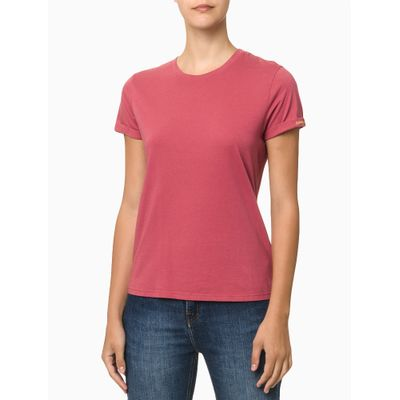 Camiseta Mc Ckj Fem Couting Joy - Rosa