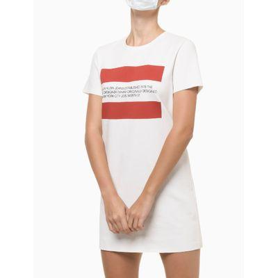 Vestido Camisetão De Ponto Roma - Branco