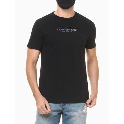 Camiseta Masculina Estampa nas Costas Reverse Preta Calvin Klein Jeans